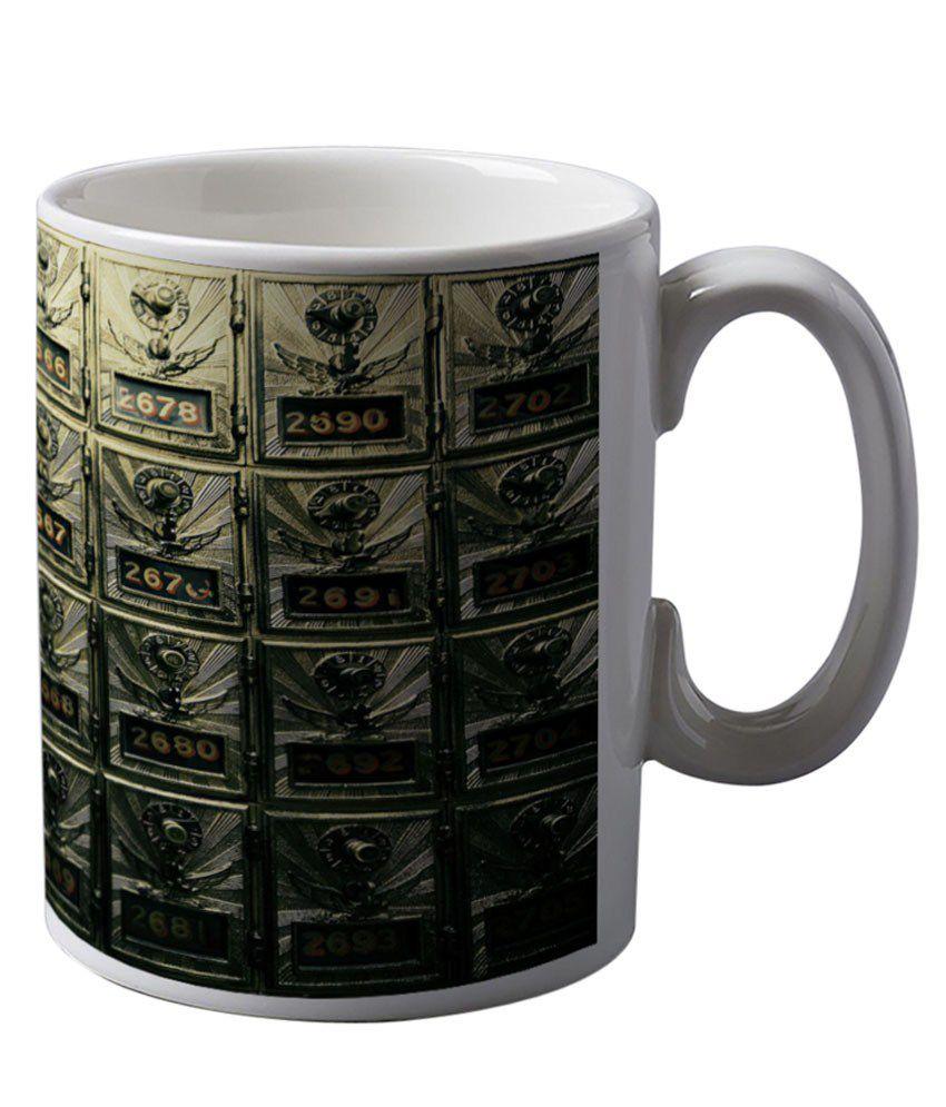 Artifa Vintage Post Office Boxes Coffee Mug