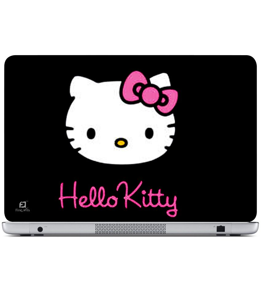 ae9cfb388 Finearts Textured Laptop Skin - Hello Kitty Black - Buy Finearts Textured  Laptop Skin - Hello Kitty Black Online at Low Price in India - Snapdeal