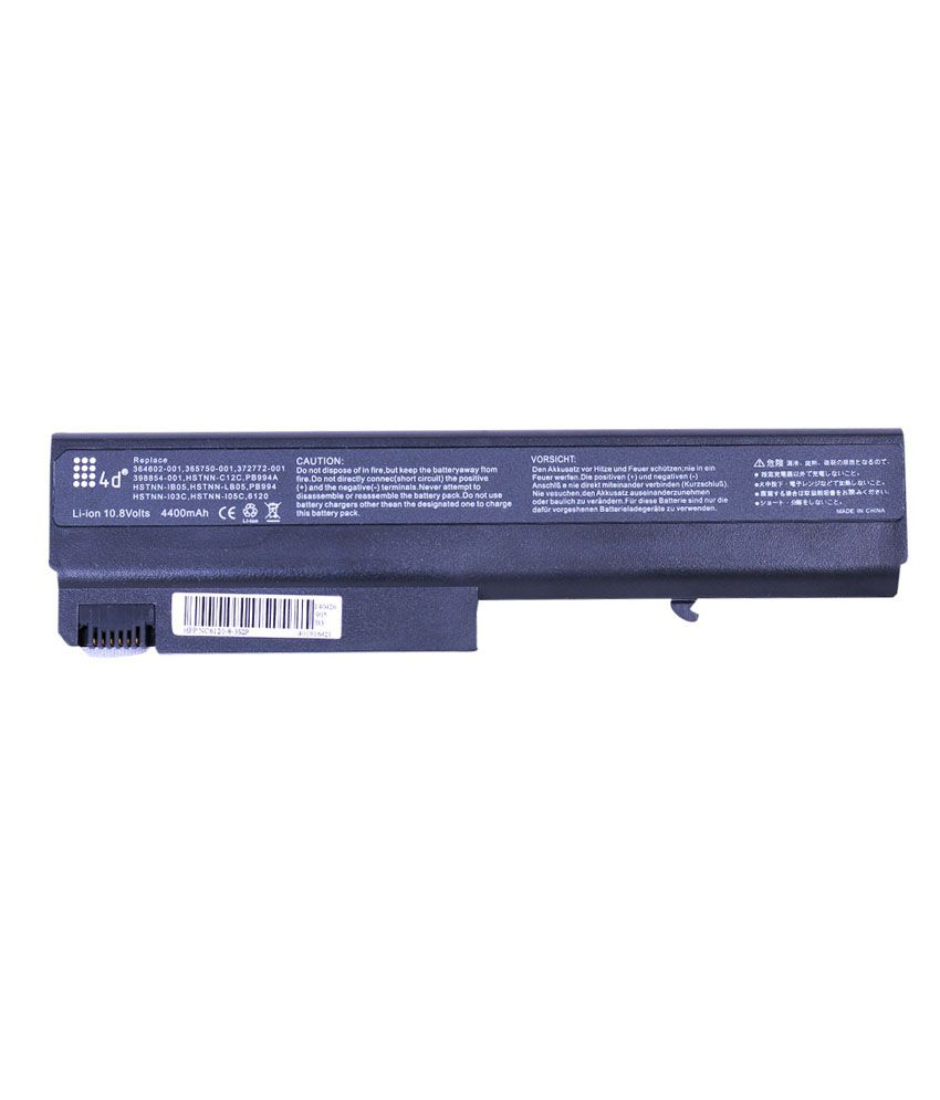 4D Hp Nx6310 6 Cell Laptop Battery