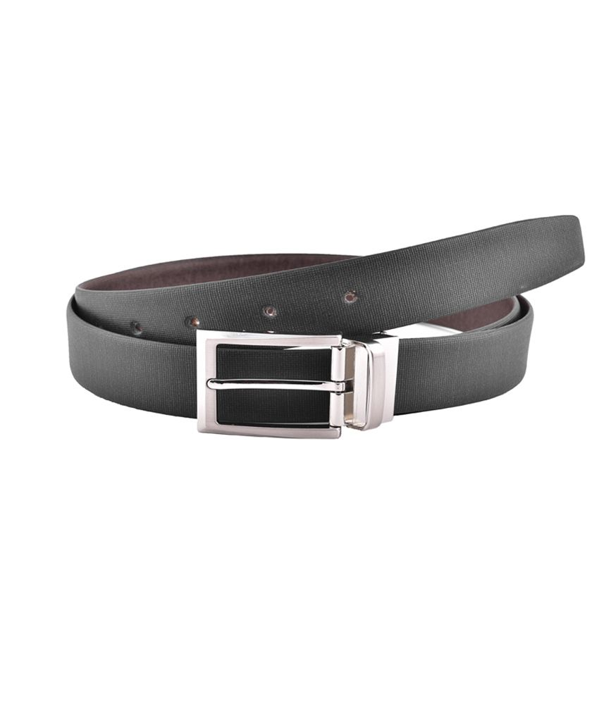 Buckleup Black Formal Black And Brown Spanish Leather Belt For Men