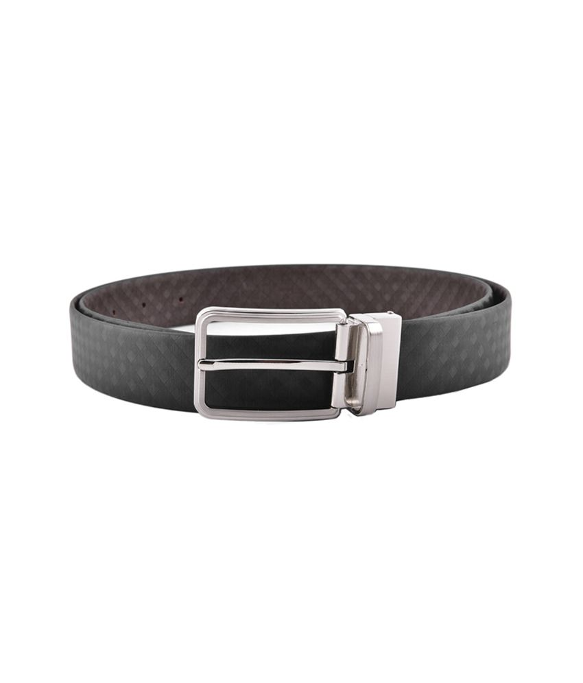 Buckleup Black Formal Reversible Leather Belt For Men