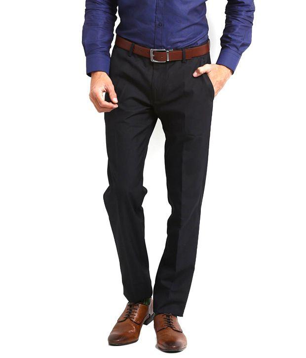 Chinar Multi Fab India Black Casual Trouser