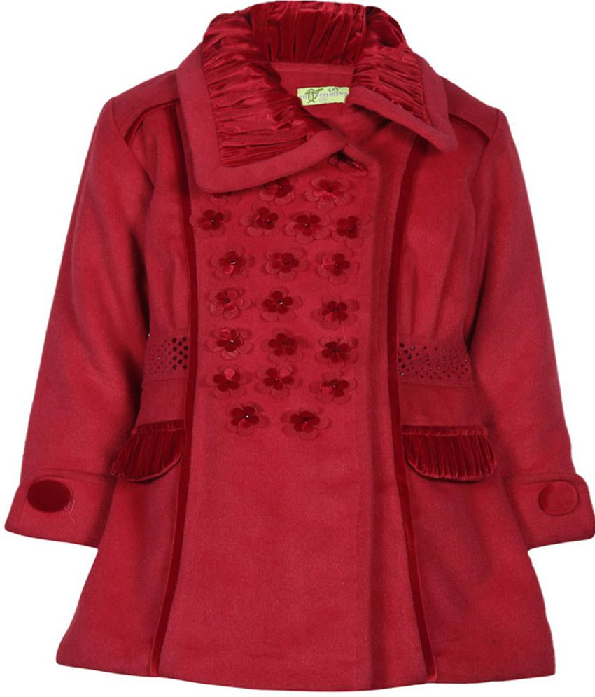 Cutecumber Red Mesh Without Hoods Full Sleeve Coats