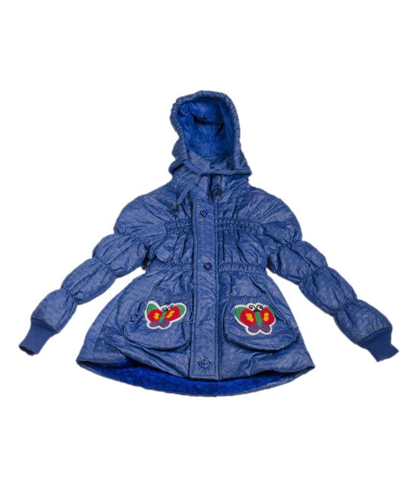 P-87 Stylish Full Sleeve Fashion Jacket For Girls - Blue