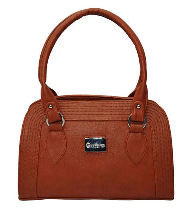 Utsukushii Tan Color Handbag