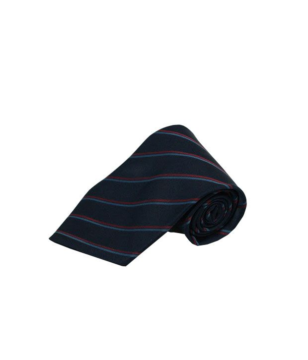 Wintex Navi Red Micro Fiber Skinny Ties For Men