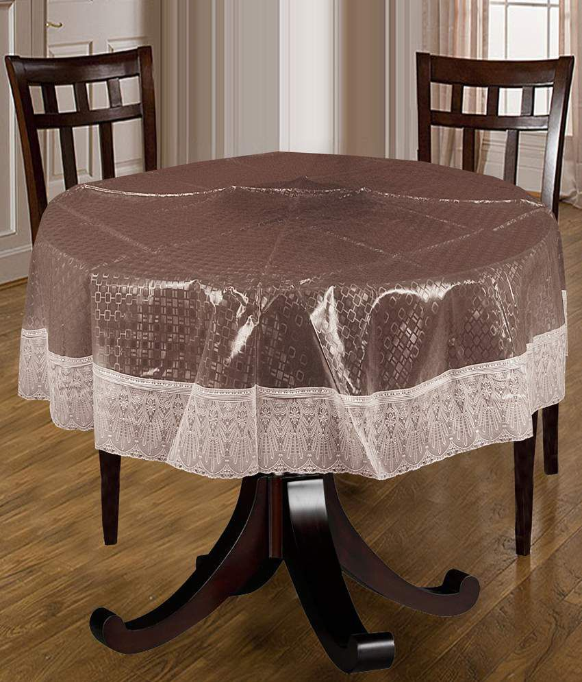 Bianca Brown And White Geometrical Pvc Table Covers