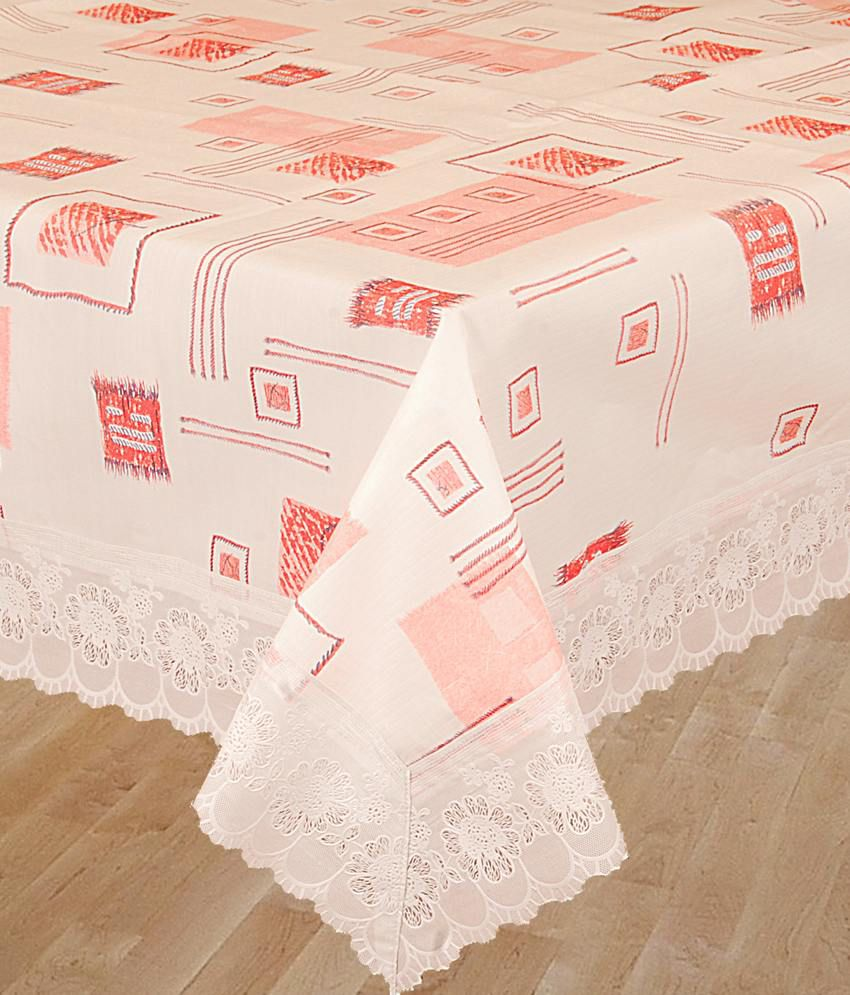 Bianca White And Red Printed Pvc Table Covers