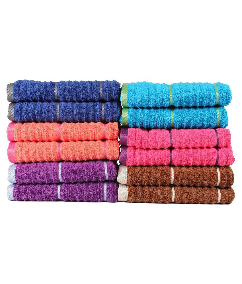 Casa copenhagen linea full collection ribbed zero twist 12 pcs hand towels combo buy casa - Casa copenaghen ...