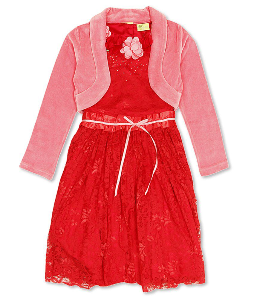 8521d165bb8 Cutecumber Girl s Red Regular Fit Dress - Buy Cutecumber Girl s Red Regular  Fit Dress Online at Low Price - Snapdeal