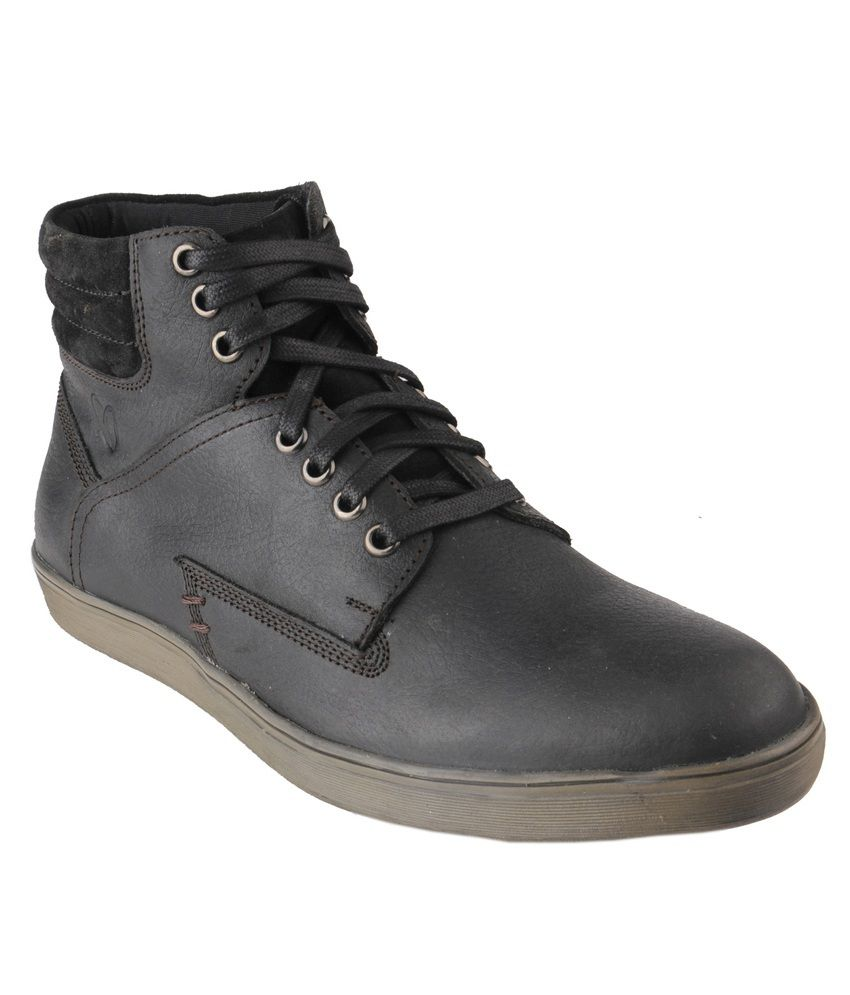 Delize Black Casual Shoes