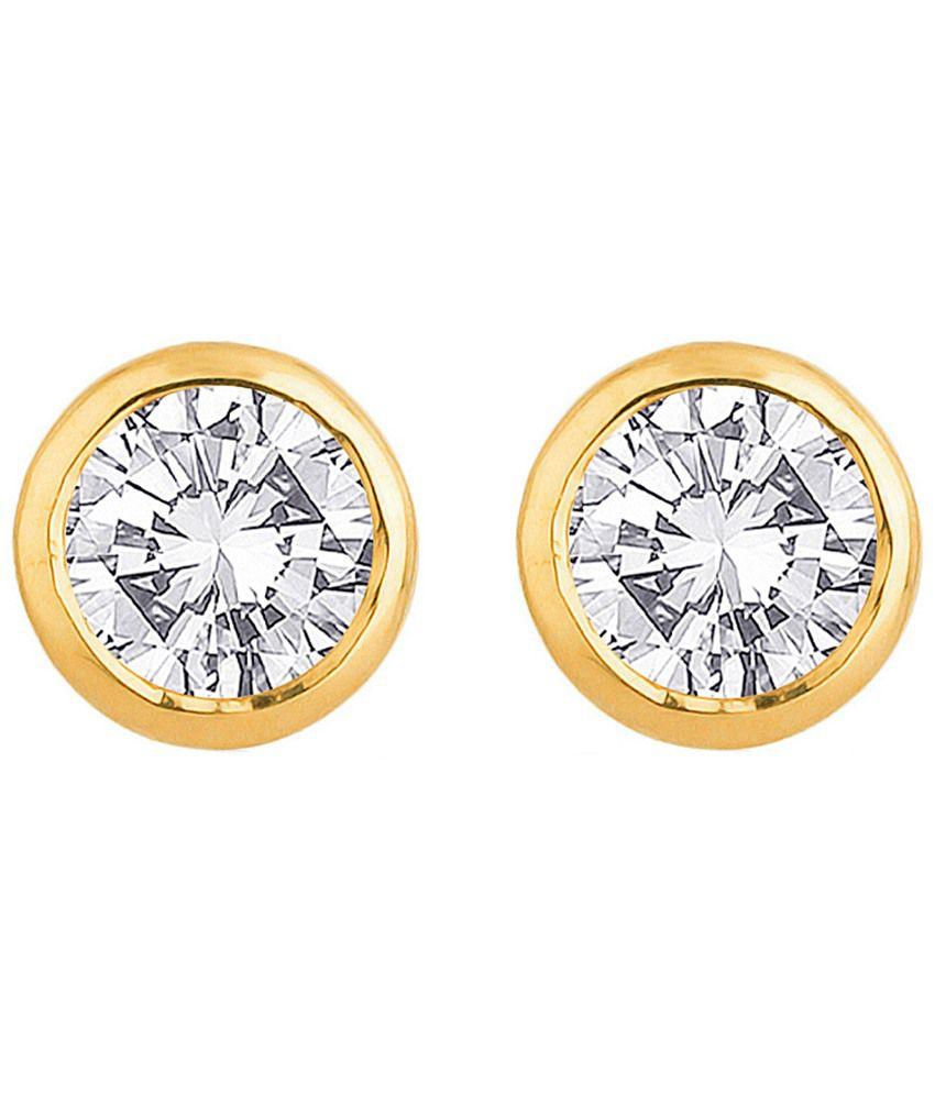 Voylla Exquisite Hallmarked 18k Gold Stud Earrings