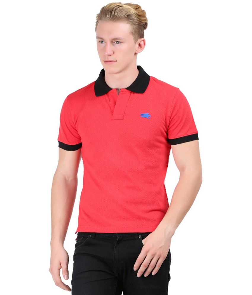 Blackmilan Men's Red Half Sleeve Polo T-shirt - Buy ...