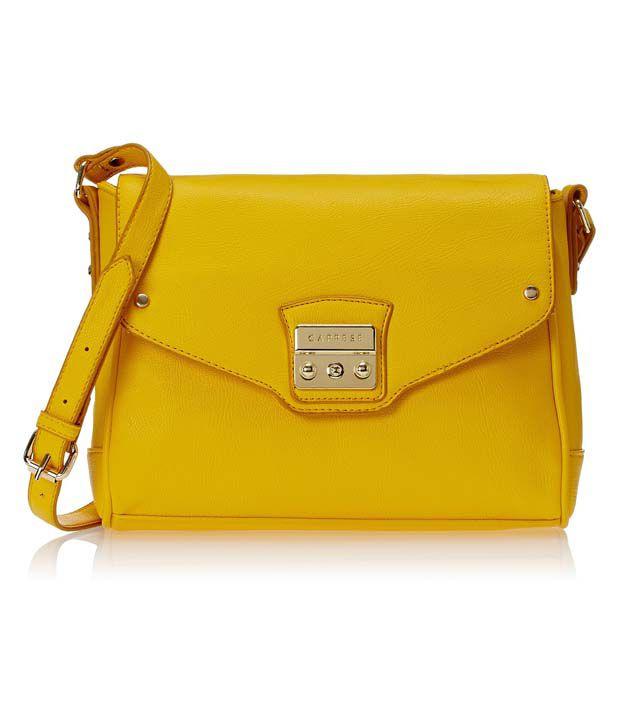 Caprese Brenda Sling Small Yellow Sling Bag - Buy Caprese Brenda ...