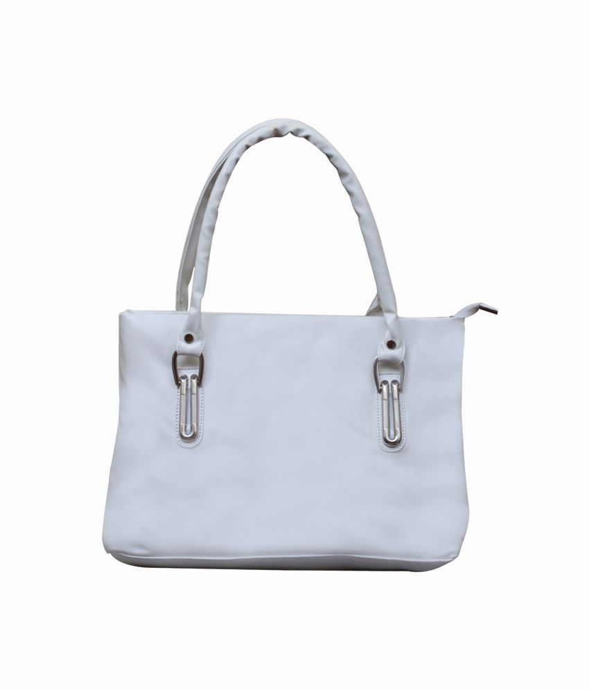 74f8280023b Fostelo Lavish-ornate White Handbag - Buy Fostelo Lavish-ornate White  Handbag Online at Best Prices in India on Snapdeal