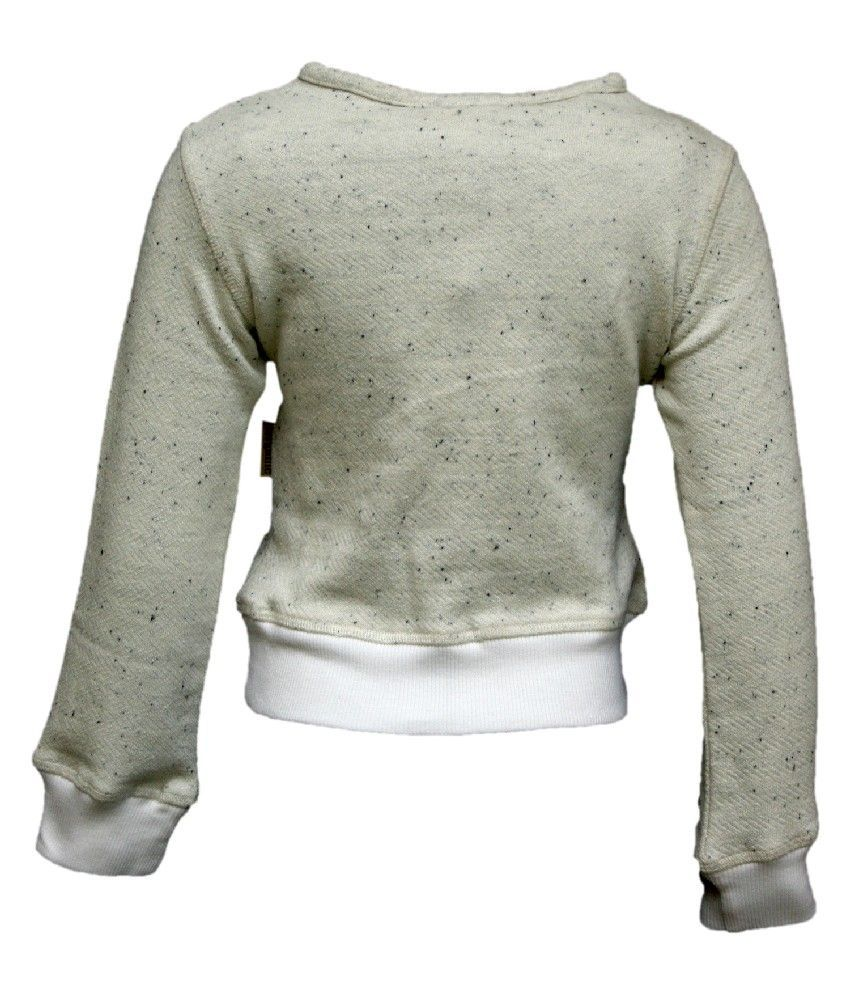 Gron Stockholm Full Sleeves Off White Color Sweat Shirt For Kids