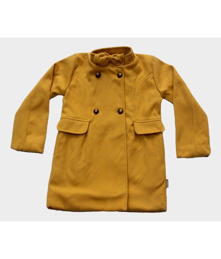 Gron Stockholm Full Sleeves Yellow Color Coat For Kids