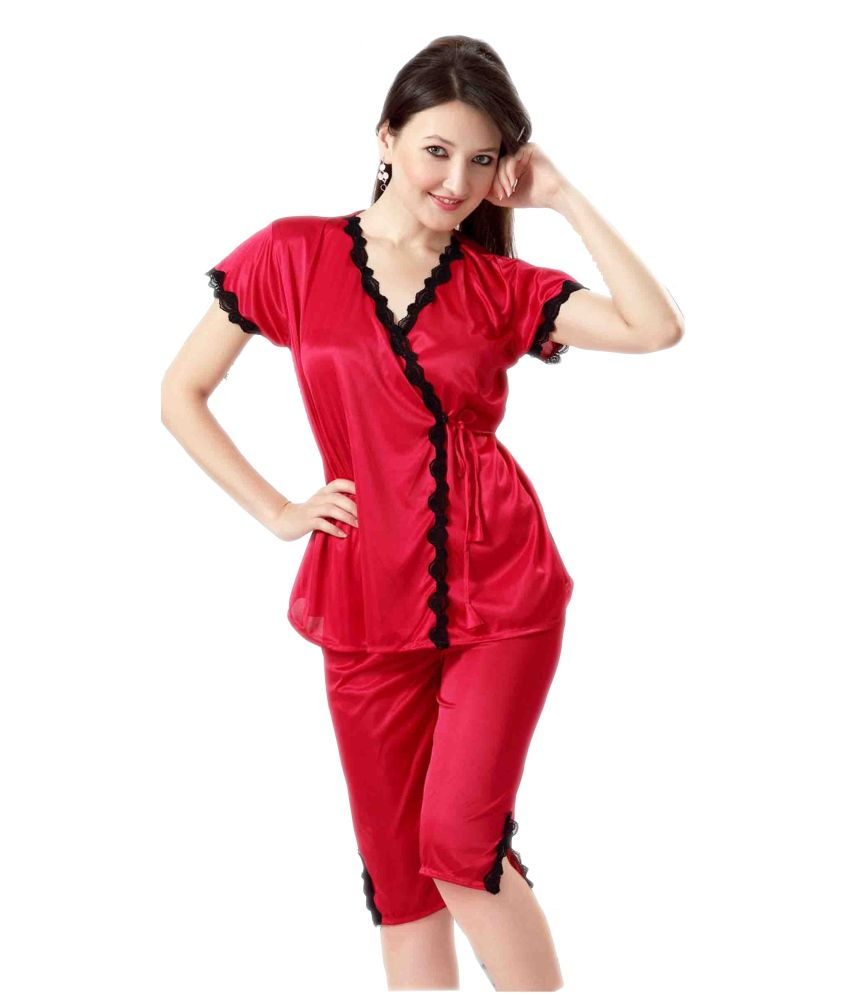 20b283157290 Buy Hot N Sweet Red Satin Nighty Online at Best Prices in India - Snapdeal