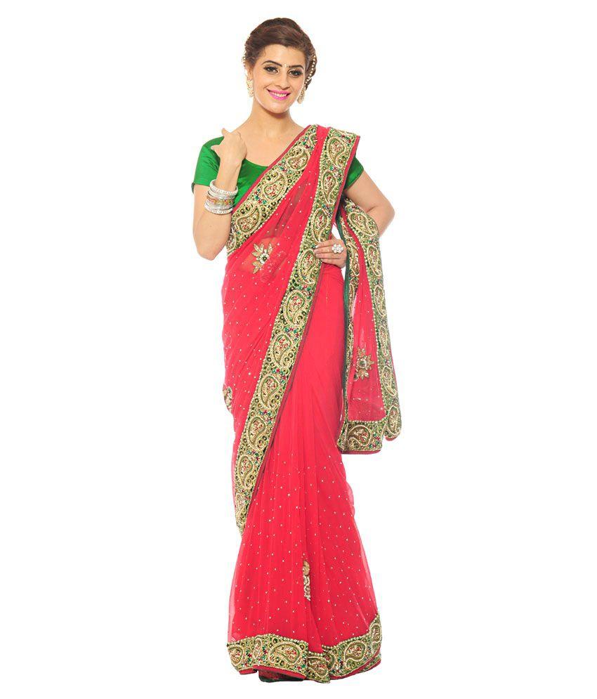 Kishore Sarees Multicoloured Chiffon Saree