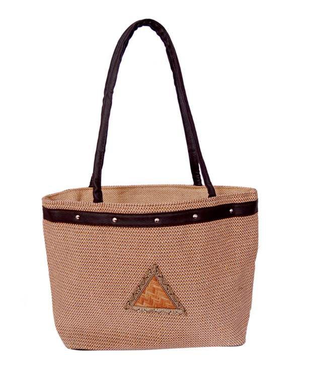 Womaniya Brown Handcrafted Shoulder Bag
