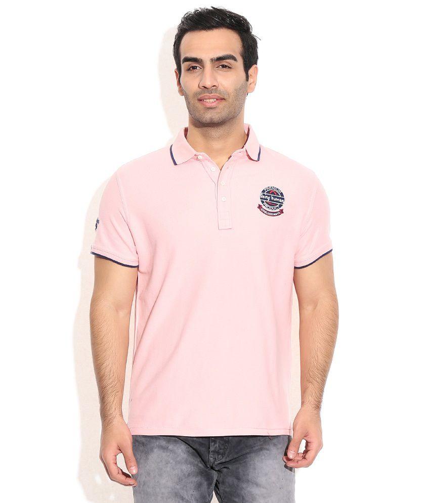 Being Human Pink Cotton T-Shirt