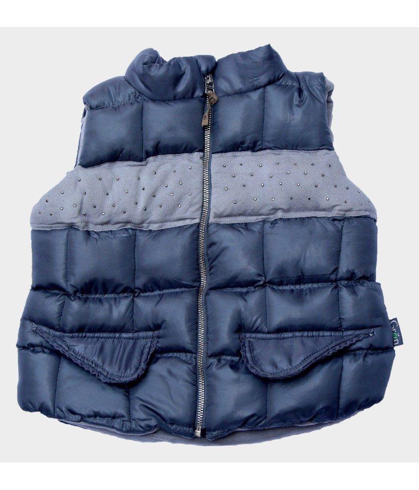 Gron Stockholm Sleeveless D.Gray Color Jacket For Kids