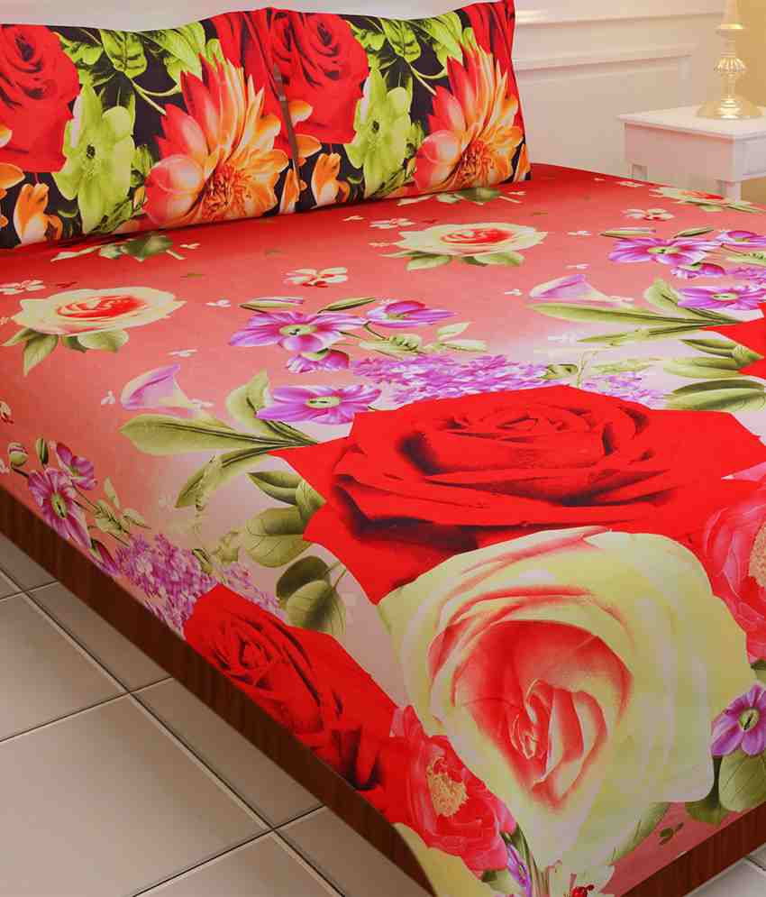 Home Creations Extra Soft 3d Print Bedsheet Buy Home