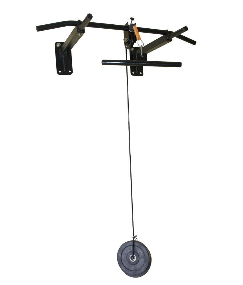 Home gym dynamics pull up bar with top pulley buy online