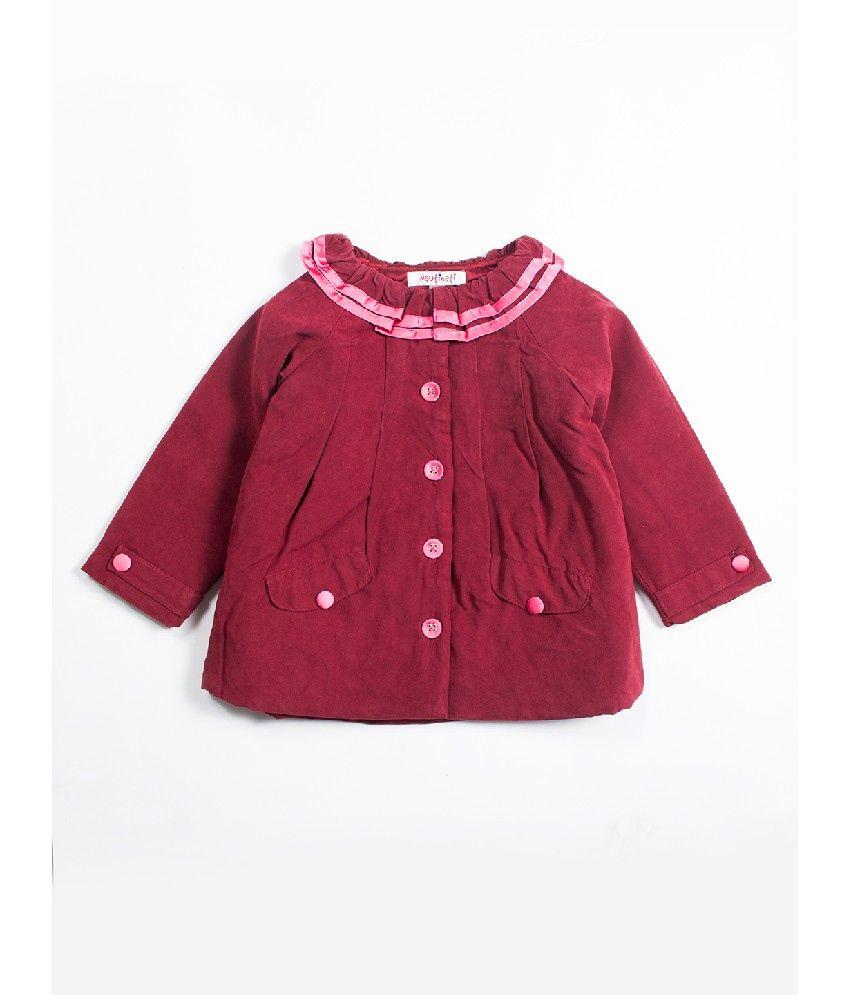 Nauti Nati Wine Color Jackets For Kids