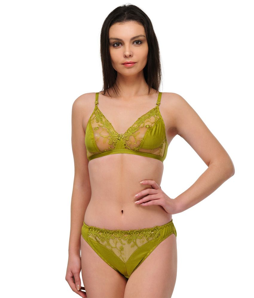 47722d2c7 Buy Oleva Multi Color Cotton Bra   Panty Sets Pack of 2 Online at Best  Prices in India - Snapdeal