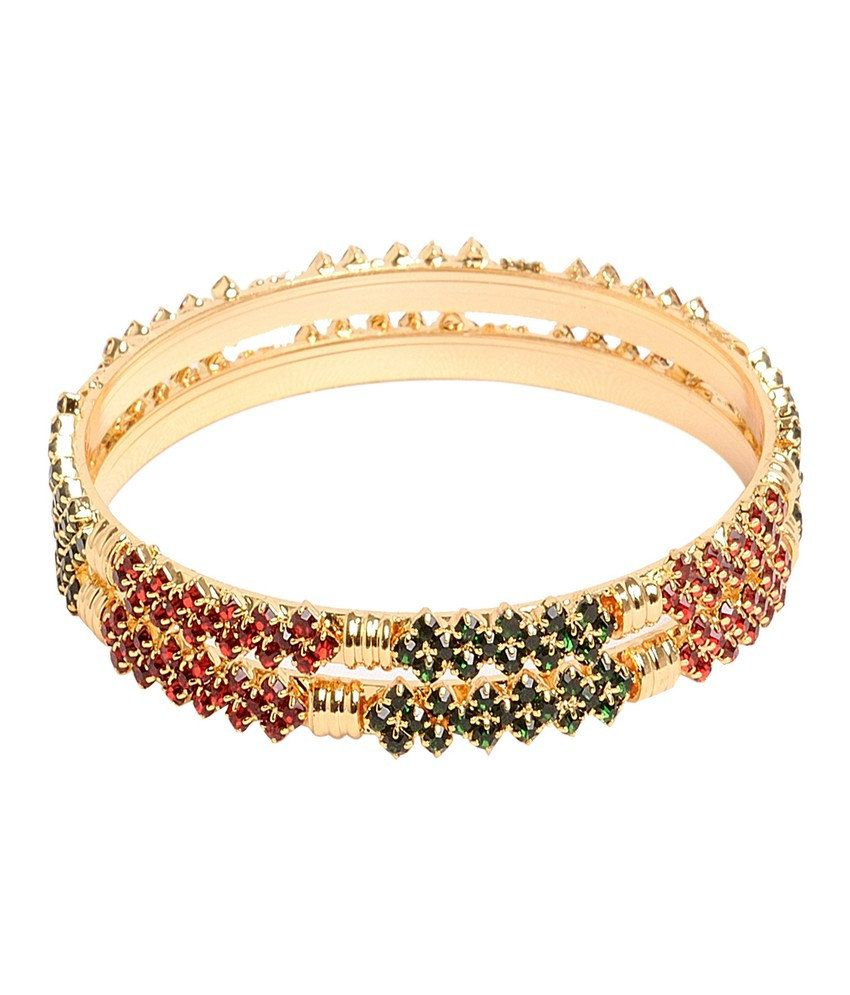 Sthrielite Trendy Gold Plated Bangles