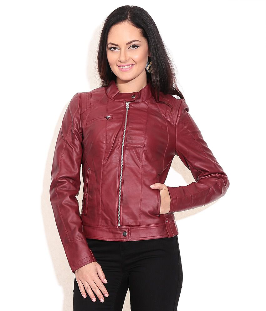 d977aff1c1f51 Buy Vero Moda Maroon Jacket Online at Best Prices in India - Snapdeal