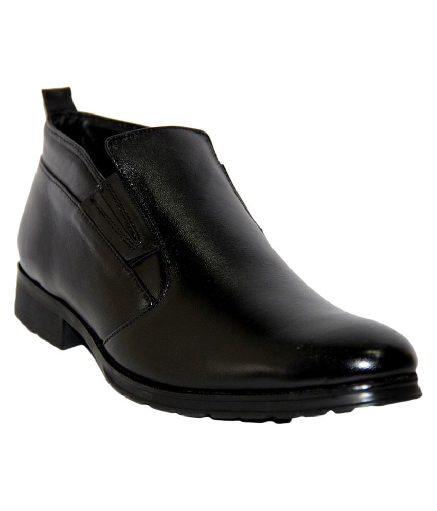 Lucheese Black Leather Daily Men's Boot