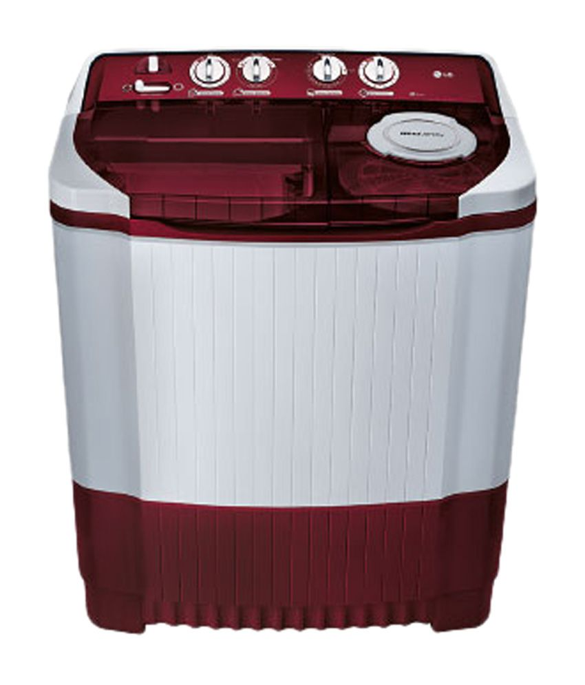 LG 7.2Kg P8239R3SA Semi Automatic Top Load Washing Machine Burgandy