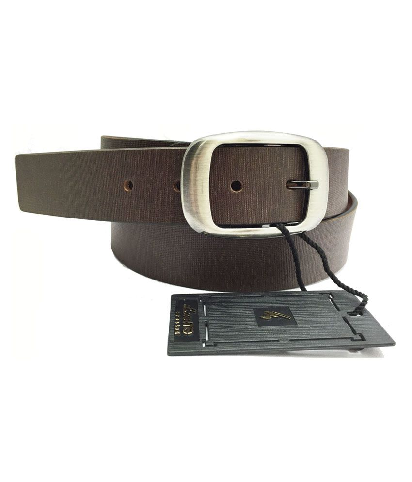 Lustre International Brown Pin Buckle Leather Belt For Men