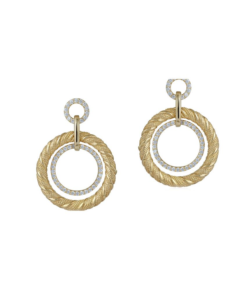 Silver Zing Gold Plated Ojaswini Earrings