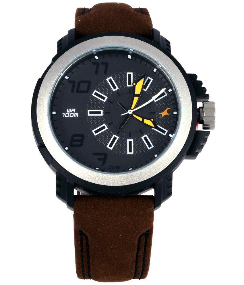 fastrack 38015pl03j leather watch for men buy fastrack fastrack 38015pl03j leather watch for men