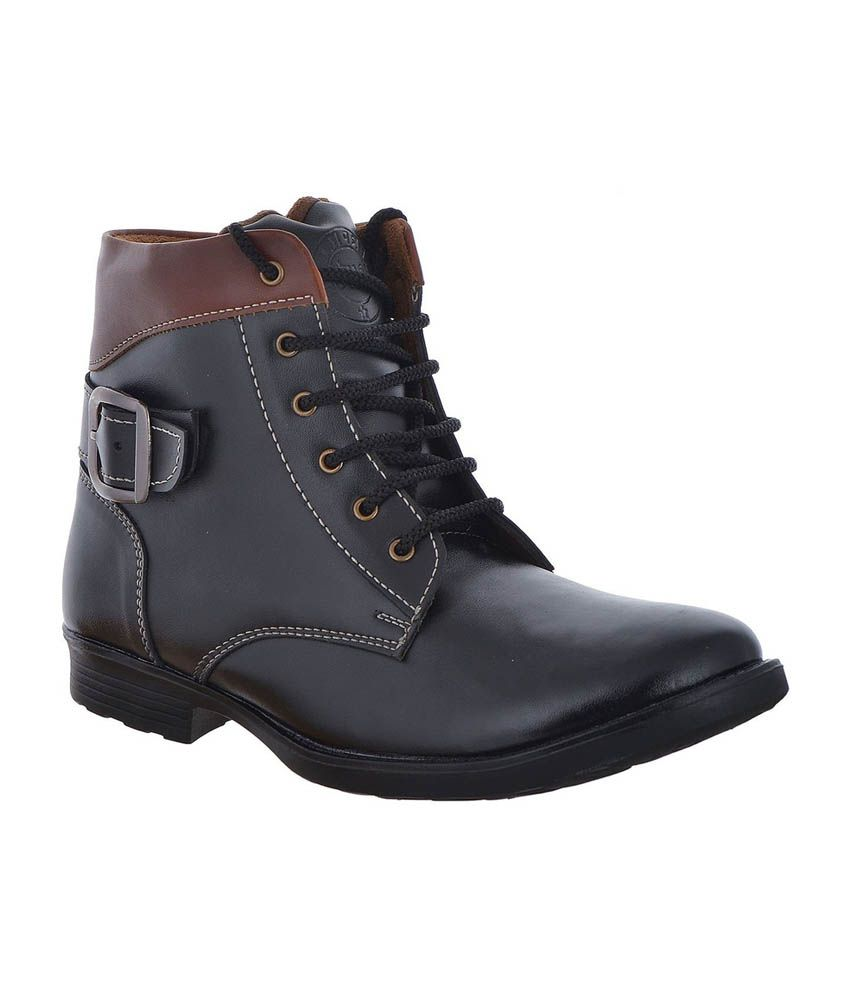 Fusion Club Brown High Ankle Boots For Men