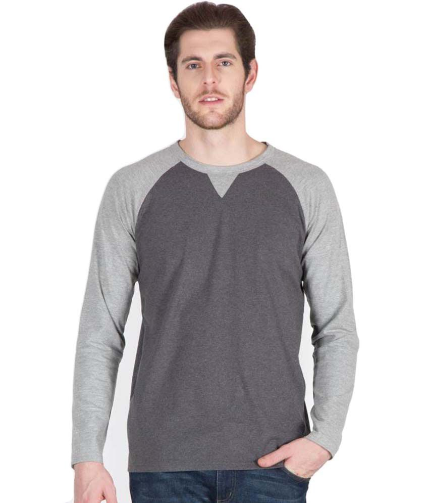 4ddfa4b764f Hypernation Dark and Light Grey Color Round Neck Cotton Full Sleeves  Baseball T-shirts For Men - Buy Hypernation Dark and Light Grey Color Round  Neck Cotton ...