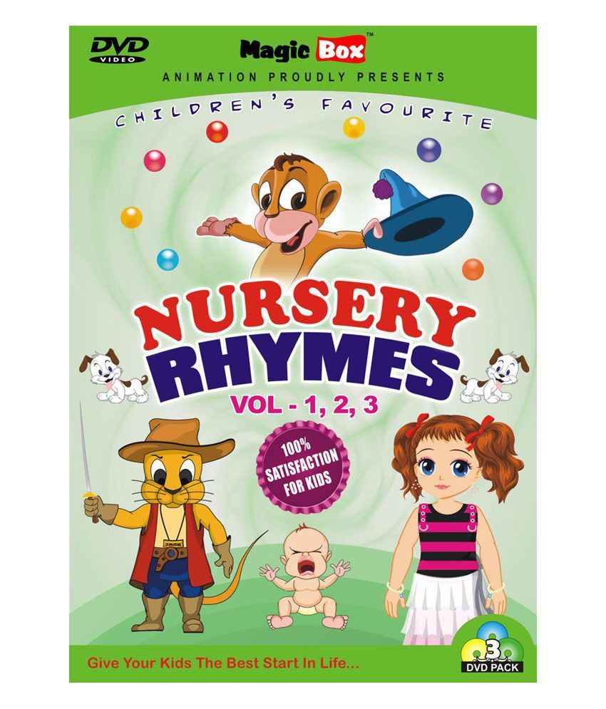 Nursery Rhymes Volume 1 2 3 Pack Of Dvds English By Magicbox