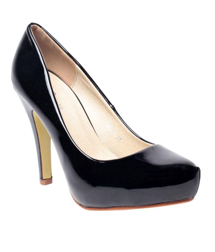 Steppings Black Stiletto Pumps