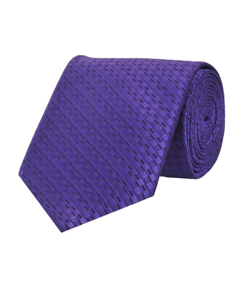 Tiekart Purple Chequered Necktie