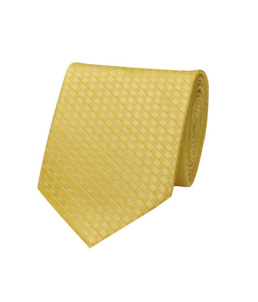 Tiekart Yellow Chequered Necktie