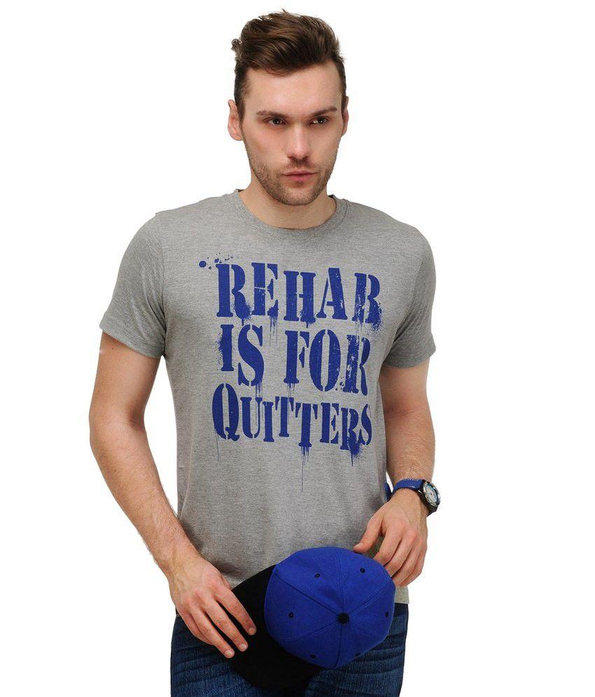 Yepme Gray Cotton T-shirt