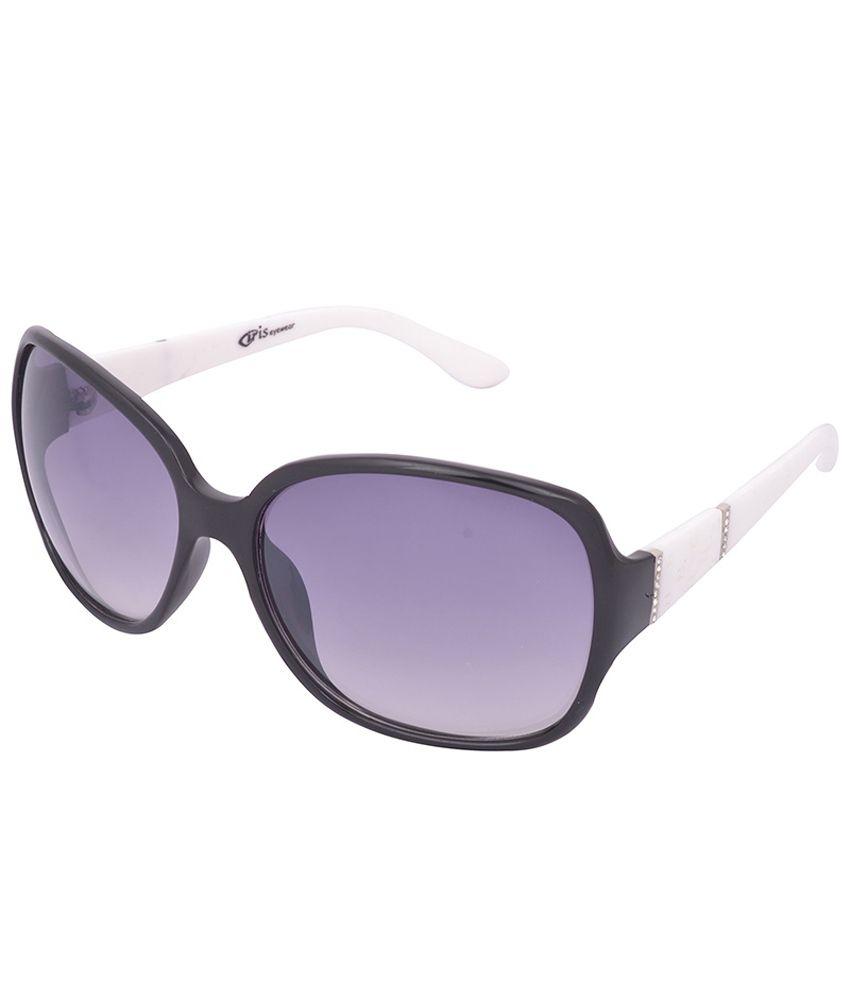 Iris Iris Eyewear Black Oval Non Metal Oval Uv Protection Sunglass For Women
