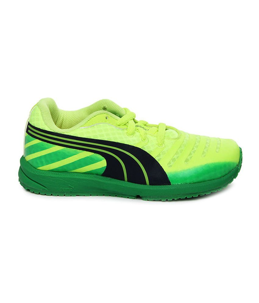 092b5ce13d7 Puma Kids Neon Yellow Faas 300 V3 Jr Sports Shoes Price in India ...