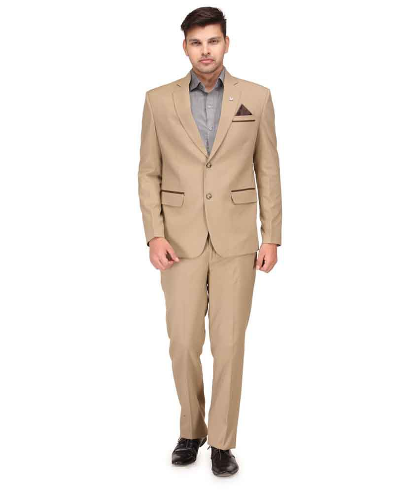 Canary London Khaki Cotton Blend Designer Suit