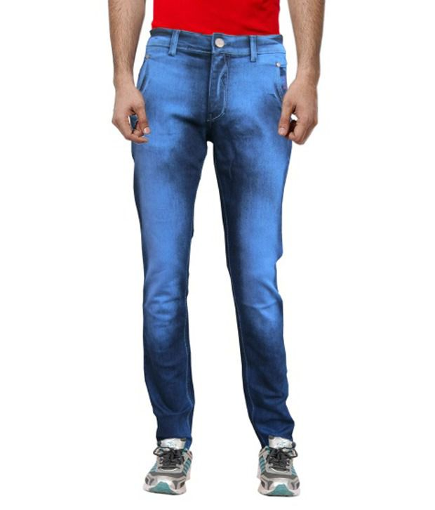 White Pelican Jeans With Unique Front Pocket And Lycra Denim Slim Fit