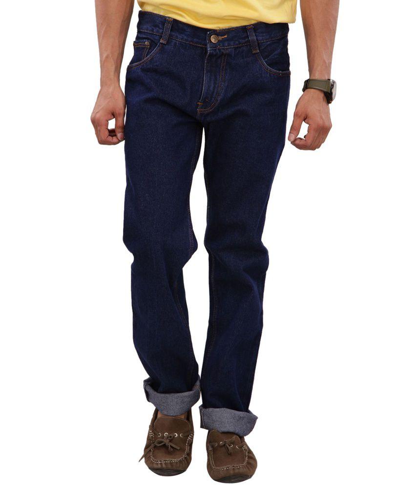 Karya Blue Regular Fit Cotton Jeans For Men