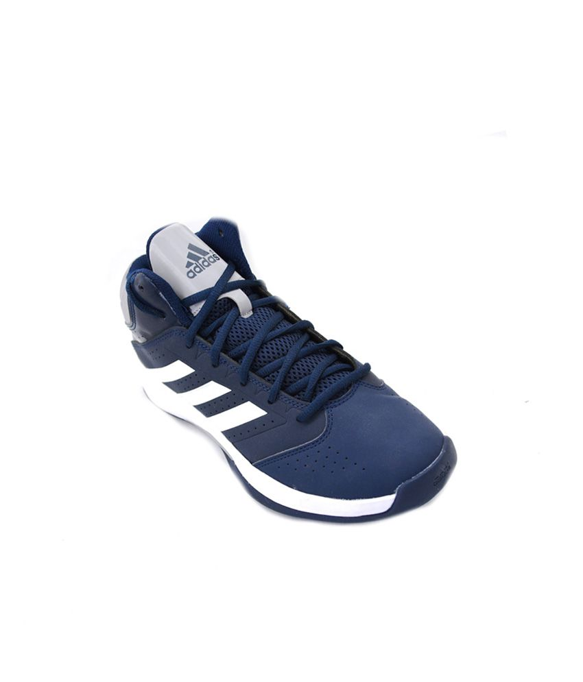 248edf9d49c2 Adidas Blue Synthetic Leather Basketball Sports Shoes For Men - Buy Adidas  Blue Synthetic Leather Basketball Sports Shoes For Men Online at Best  Prices in ...